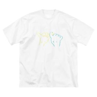 やくそく Big silhouette T-shirts