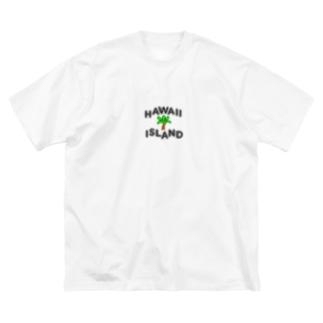DESIGN SHOPのHAWAII ISLAND Big silhouette T-shirts