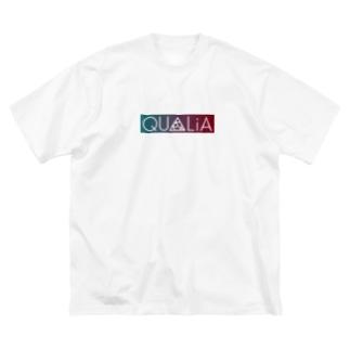QUALiAのQUALiA ボックスロゴ Big silhouette T-shirts