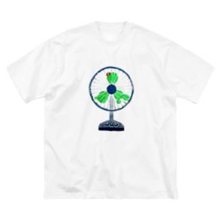 サボテン扇風機 Big silhouette T-shirts