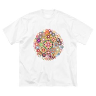 SAIHATE MANDALA Big silhouette T-shirts