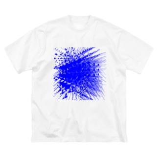 あめ猫の店の青1 Big silhouette T-shirts