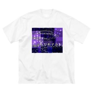 AGOAの重い雨音 Big silhouette T-shirts