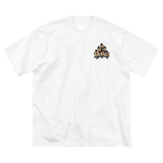 ちっさいおじさんたち Big silhouette T-shirts