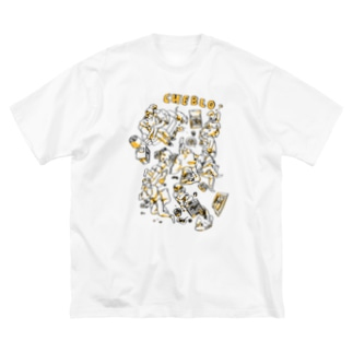 MABARA Big silhouette T-shirts