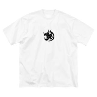 カゲ ト イキル Big silhouette T-shirts