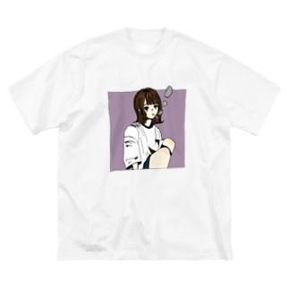 好きなもの倶楽部の茶髪 Big silhouette T-shirts