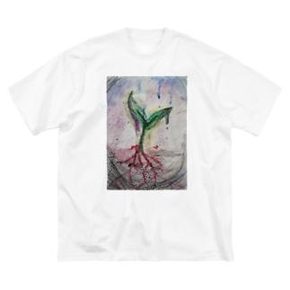ミズノシナコの副産物 Big silhouette T-shirts