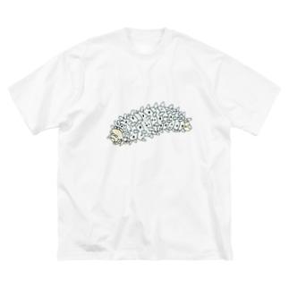 OGNdesignの虫 芋虫 いもむし NO.29 Big silhouette T-shirts