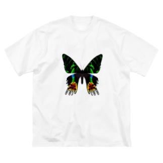 Mongolian Death Wormのニシキオオツバメガ Big silhouette T-shirts