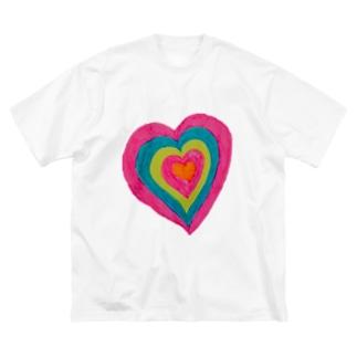 tsukukoのぷりちぃ💘 Big silhouette T-shirts