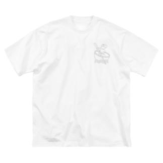 Studio512 ラーメン法師 Big silhouette T-shirts