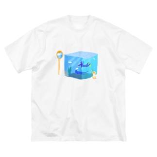 夏のテレポーテーション Big silhouette T-shirts