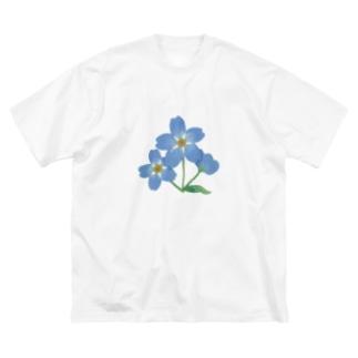 忘れな草 Big silhouette T-shirts