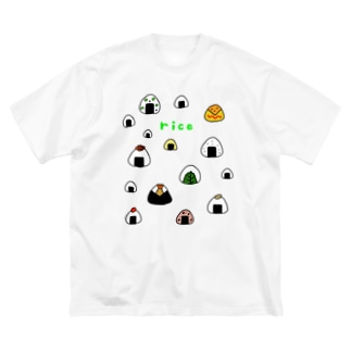 カラフルおにぎり Big silhouette T-shirts