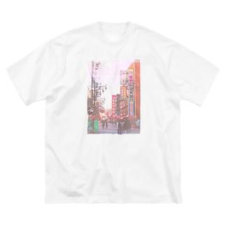 新世界 Big silhouette T-shirts