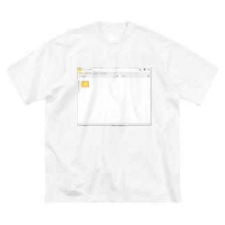 架空のOSのウインドウ・フォルダー画面 Big silhouette T-shirts
