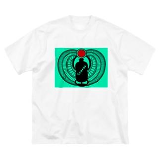古代エジプト・有翼スカラベ Big silhouette T-shirts