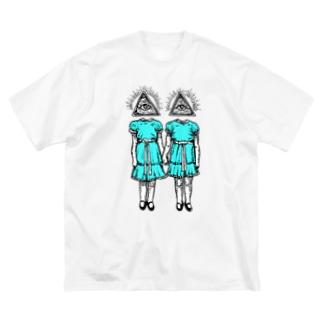 輝く双子 Big silhouette T-shirts