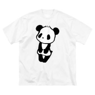 ぱんだ Big silhouette T-shirts