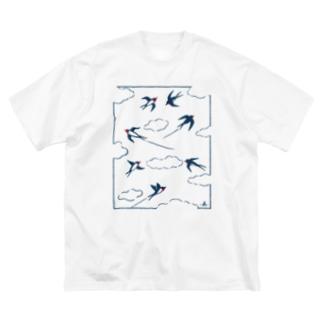 雲とツバメ Big silhouette T-shirts