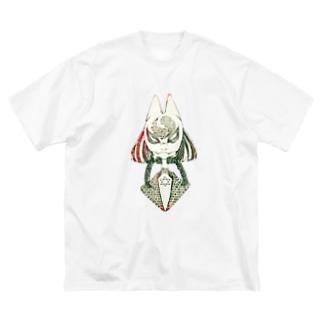 きつねちゃん Big silhouette T-shirts