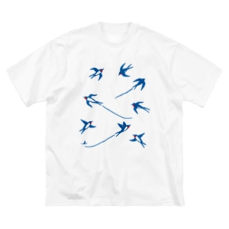 ツバメ Big silhouette T-shirts
