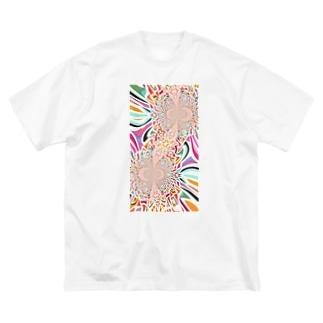 KAERUCAFE SHOPのサイケA Big silhouette T-shirts