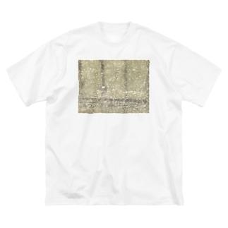 かえでくんマーケットのテクスチャ Big silhouette T-shirts