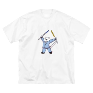 tomo@マシニングの工具大好きニャー Big silhouette T-shirts