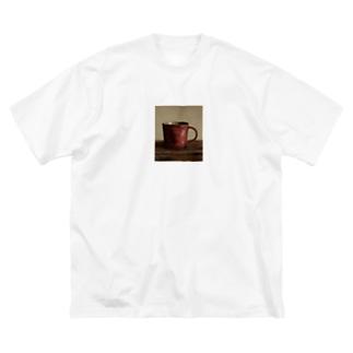 幾瀬陽七乃@お仕事募集中の赤いカップ Big silhouette T-shirts