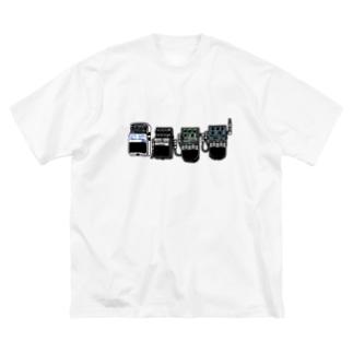 エフェクター2 Big silhouette T-shirts