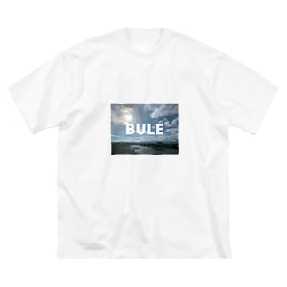 BLUE 自然 Big silhouette T-shirts
