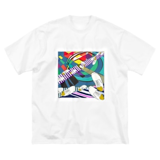 AGOAのクロスロード Big silhouette T-shirts
