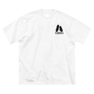 ペアTシャツ屋のシバヤさんのペア(GROOM)シューズ_ブラック Big silhouette T-shirts