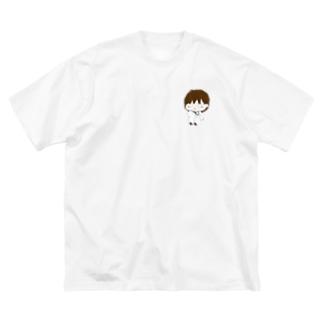 みながわくん Big silhouette T-shirts