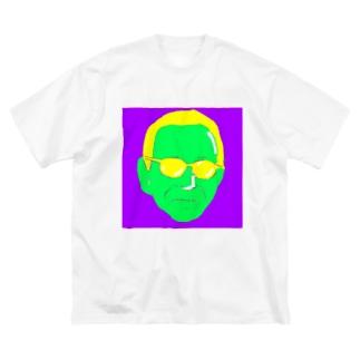 NaMoのやっぱりお昼はこの人がいい(ビビットカラー) Big silhouette T-shirts