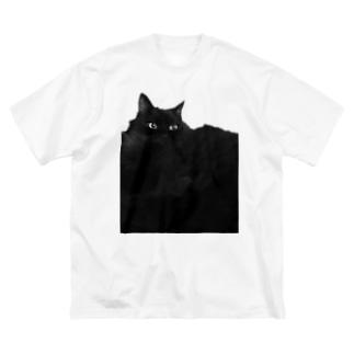 SAIWAI DESIGN STOREのクロネコ平原 Big silhouette T-shirts