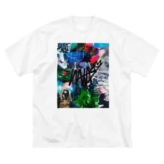 た Big silhouette T-shirts
