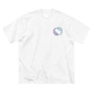 ぐるぐるうつぼ Big silhouette T-shirts