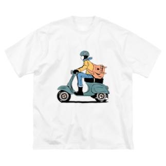郵便ポス子さん Big Silhouette T-Shirt