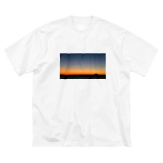 鋸南町から見えた富士山 Big silhouette T-shirts