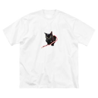 まめぞうくん Big silhouette T-shirts