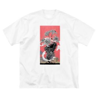 東京とユリ Big silhouette T-shirts