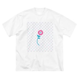ガーベラ Big silhouette T-shirts