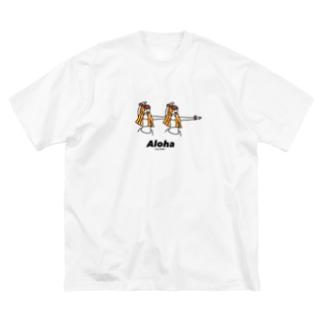 フラガール Big silhouette T-shirts