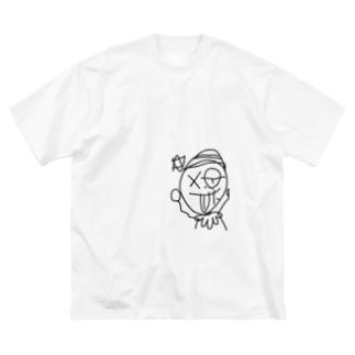 壊れたおもちゃ Big silhouette T-shirts