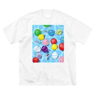 夏を浮かべる Big silhouette T-shirts