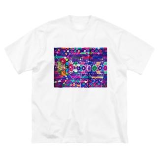 グアテマラ民族衣装柄2 Big silhouette T-shirts