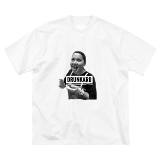 DRUNKARD AMI Big silhouette T-shirts